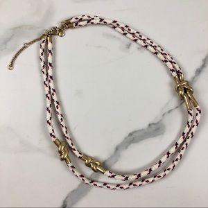 Madewell gold metal knot nautical layered necklace